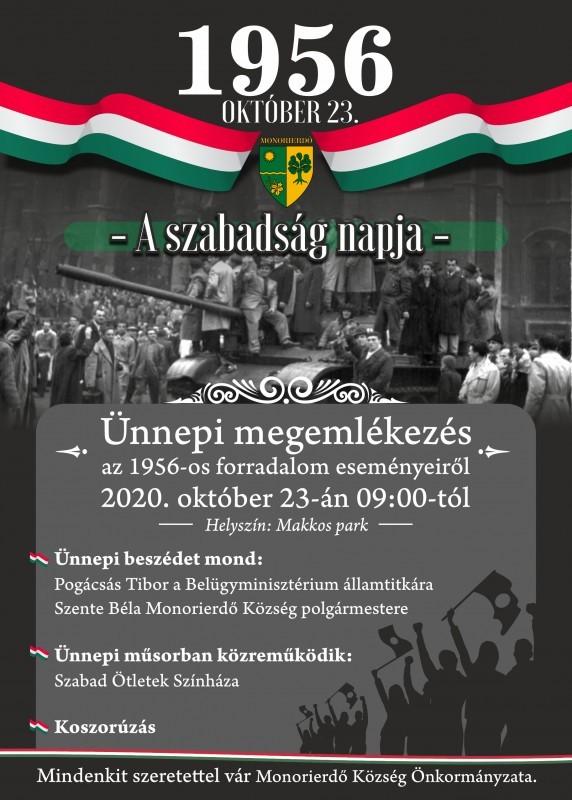 | Ünnepi megemlékezés az 1956-os forradalom eseményeiről